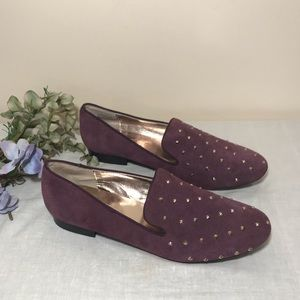 Steve Madden Suede Loafers Purple Studded